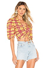 L'Academie The Brys Blouse in Yellow Plaid