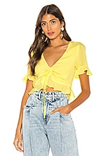 L'Academie The Lucia Blouse in Pale Yellow