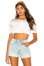 L'Academie The Sidney Crop Top in White
