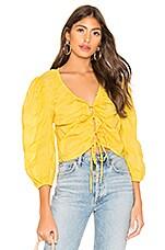L'Academie The Melanie Blouse in Lemon Yellow