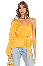 L'Academie The Camila Blouse in Pineapple Yellow