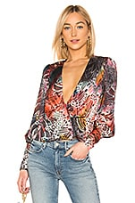 L'Academie The Bea Blouse in Abstract