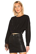 L'Academie The Blake Blouse in Black