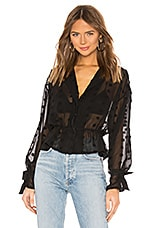 L'Academie The Alexander Blouse in Black
