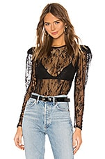 L'Academie The Joanna Blouse in Black