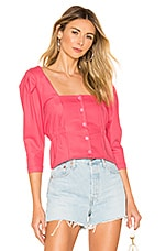L'Academie The Astrid Blouse in Calypso Coral