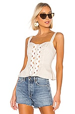 L'Academie The Emilia Top in Beige
