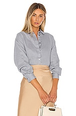 L'Academie The Lisette Top in Dusty Blue