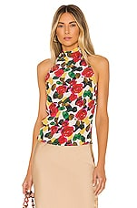 L'Academie The Eunice Top in Watercolor Floral