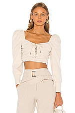 L'Academie The Cyrille Top in Beige