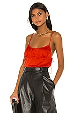 L'Academie The Sidonie Top in Fiery Red