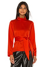L'Academie The Ninette Top in Fiery Red