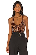 L'Academie The Bechette Bodysuit in Jungle Animal