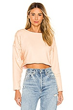 L'Academie The Lacey Crop Top in Nude