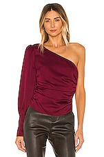 L'Academie The Feline Top in Rumba Red