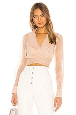 L'Academie The Joyelle Top in Nude