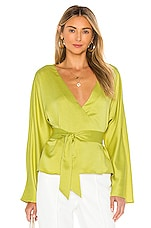 L'Academie The Bonnie Top in Apple Green