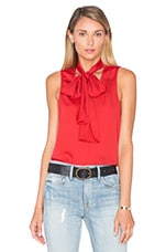 L'Academie The 70's Tank Blouse in Red Clay
