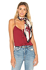 L'Academie The Button Cami Blouse in Cabernet