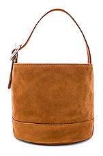 L'Academie Lenny Mini Bucket Bag in Cognac