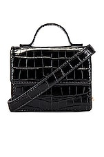 L'Academie Brea Micro Crossbody in Black