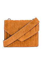 L'Academie Irowe Quilted Envelope Bag in Cognac