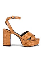 Lola Cruz Crion Platform Sandal in Tan