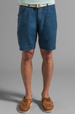 Maldives Linen Short in Navy