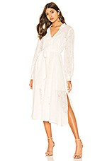 Line & Dot Chaima Shirt Dress in White