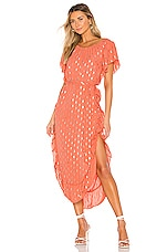 Line & Dot Rhea Dress in Orange