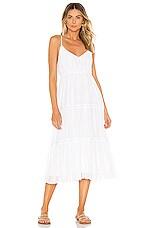 Line & Dot Lora Dress in White