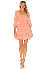 Line & Dot Sorbet Baby Doll Dress in Coral