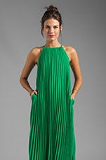 Pleated Maxi Dress in India Green