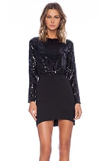Linda Sequin Mini Dress in Black