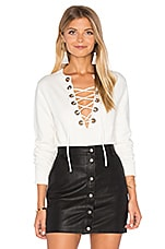 Lea Grommet Top in White
