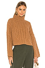 Line & Dot Kate Cropped Sweater in Brown