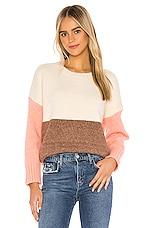 Line & Dot Middleton Color Block Pullover in Multi