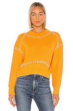 Line & Dot Sunset Sweater in Orange