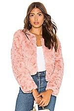 Line & Dot Faux Fur Jacket in Mauve