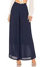 Line & Dot Avery Wide Leg Pant in Navy