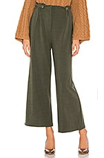 Line & Dot Poppy Pants in Olive
