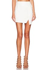 Gravity Asymmetrical Skirt in White