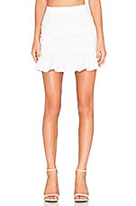 Line & Dot Mon Cherie Lace Skirt in White