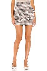 Line & Dot Quinn Ruffle Skirt in Multi