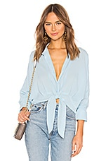 Line & Dot Lindsay Tied Shirt in Light Blue