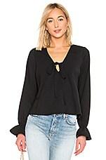 Line & Dot Leyla Blouse in Black