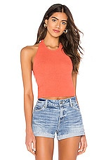 Line & Dot Dillen Sweater Top in Coral
