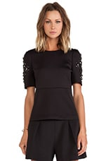 Perry Embellished Top in Black