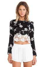 Line & Dot Blossom Crop Top in Lace De Flora