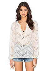 Line & Dot Lyon Lace Blouse in Cream